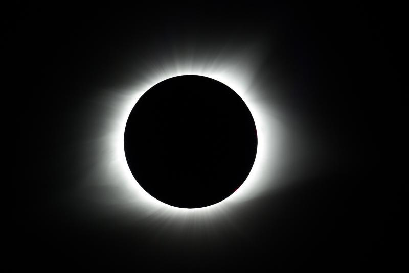 Corona during Totality Aug 21, 2017 total Solar Eclipse.