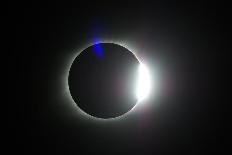 Diamond Ring at end of totality - Aug 21, 2017 solar eclipse.