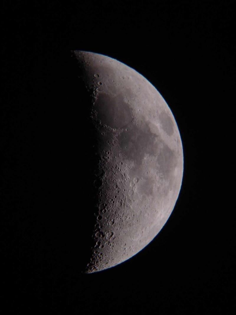 Amost 1st Quarter Moon